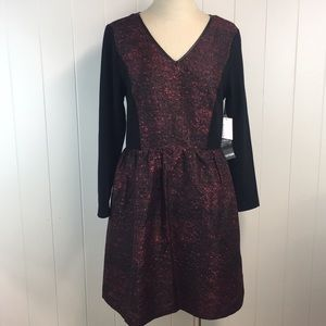 Kenzie Lace Back Red and Black Dress